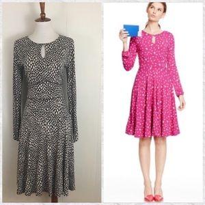 Boden Long Sleeve Marilyn Keyhole A-Line Dress